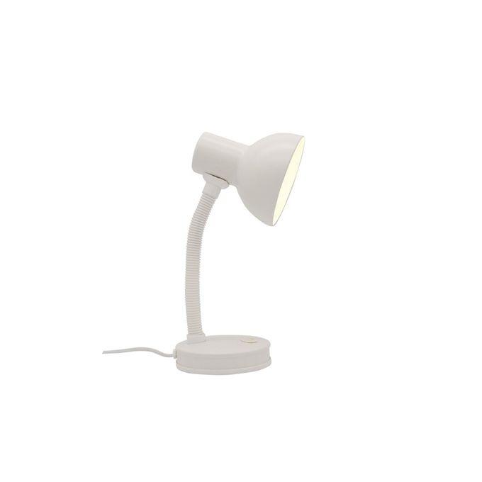 Lampe De Bureau E27 à Poser Buro Blanc Garantie 2 Ans Chevet