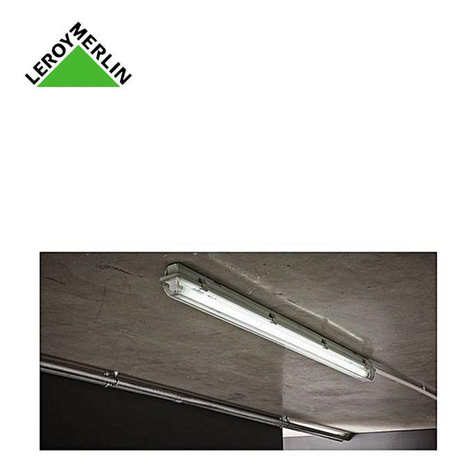 Réglette étanche 1x36w Ip65 T8 Dim 1263x74x87mm Tube Néon G13 Fluo Fourni Convient à Lextérieur