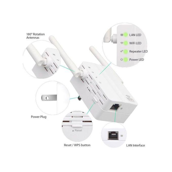 300mbps Routeur Wifi Amplificateur De Signal Répéteur Sans Fil Antennes Double