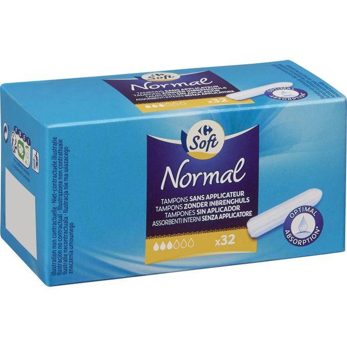 Pack De 32 Tampons Normal Sans Applicateur
