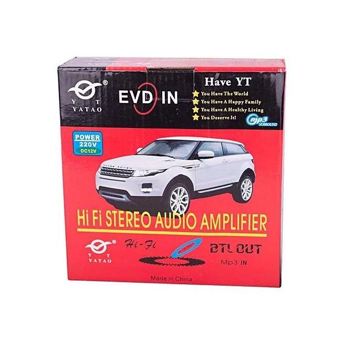 Amplificateur De Puissance Audio Stéréo Hifi Avec Télécommande Fm Carte Sd Sd Mmc Lecteur Numérique Noir