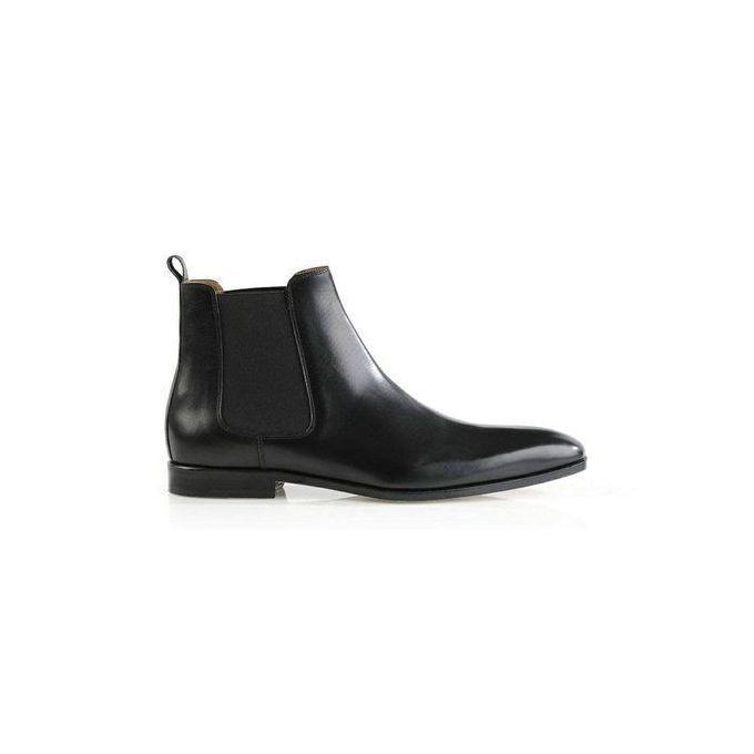 Chaussure Boot Gaine Pour Homme Cuir Simili A Noir VqSzMUp