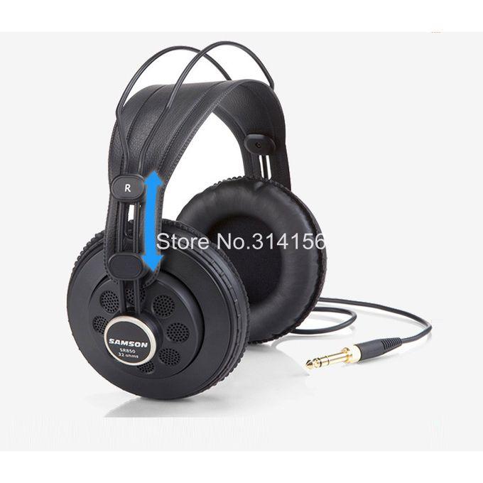 Sr850 Monitoring Hifi Headset Semi Open Back Headphones For Studio With Leathe Earcupwithout Retail Box