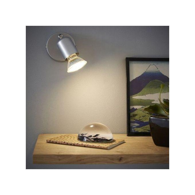 Spot Patère Design Basic Gris Fonctionne Avec 1 Ampoule Gu10 Garantie 1 An