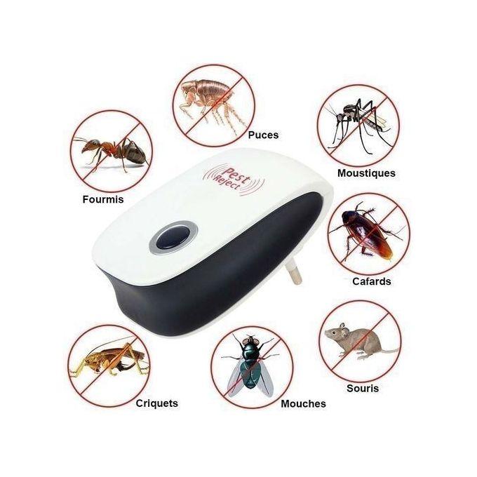 Répulsif Anti Insectes Et Anti Souris Ultrasonique Blanc