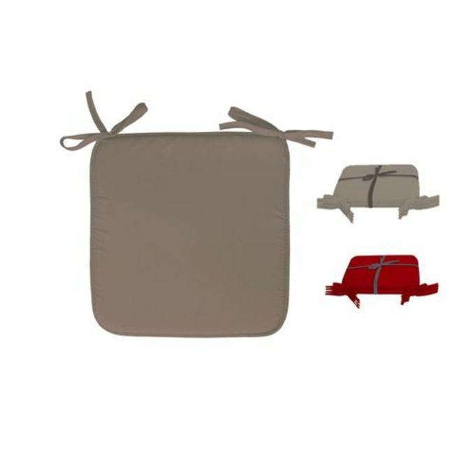 4 Coussins De Chaise Titi Taupe Dim 38x38cm Epaisseur 7cm Galette De Chaise