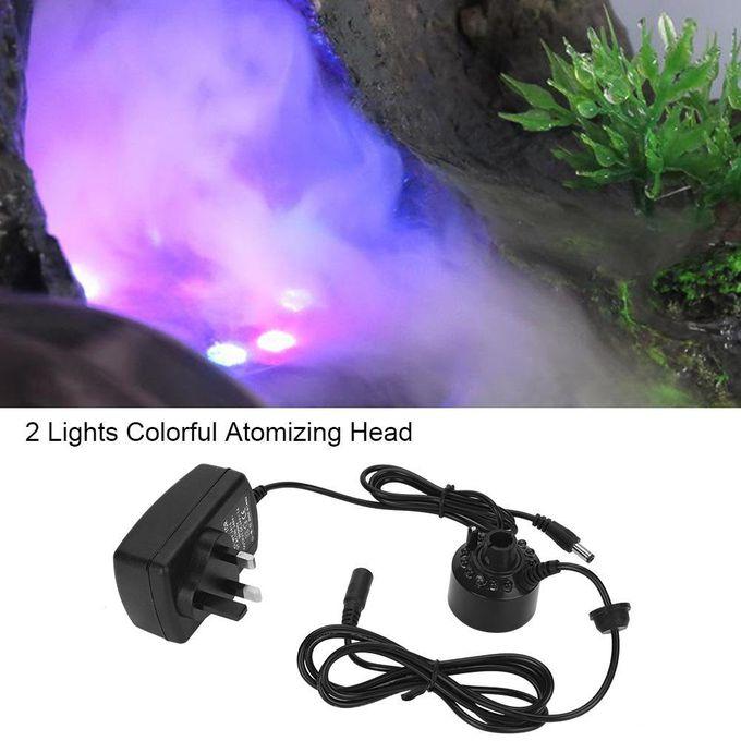12 Lumières Colorées Atomiseur Brumisateur épais Brouillard Fontaine Eau Humidificateur Dair Adaptateur Grande Décoration