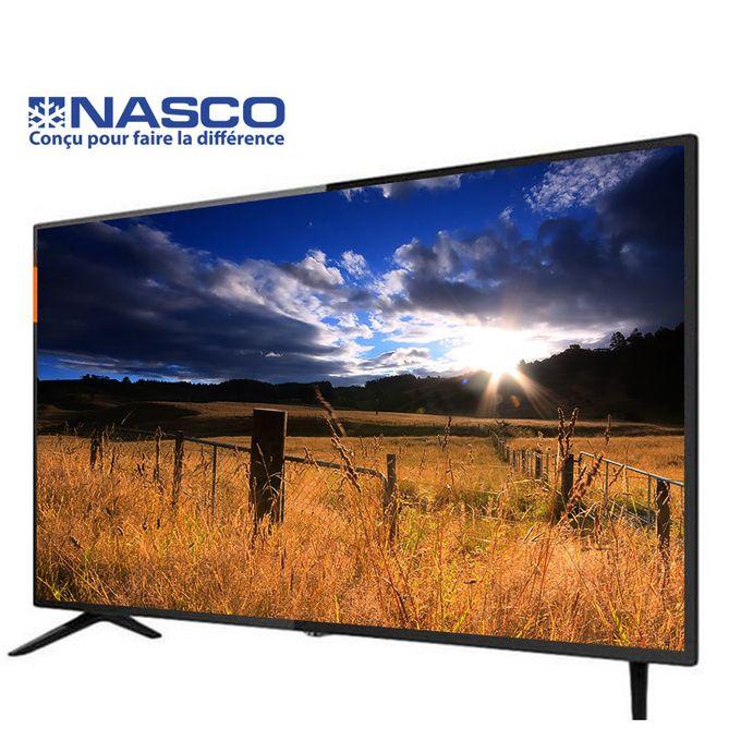 """product_image_name-Nasco-Slim TV LED 43"""" Full HD - Décodeur Intégré - Régulateur de tension - HDMI - USB - VGA - Noir - Garantie 12 Mois-1"""