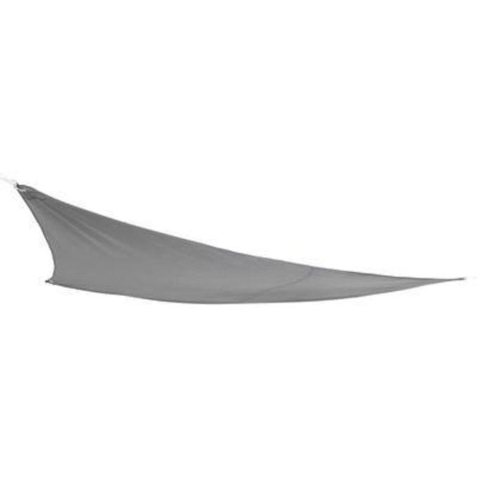 Toile Voile D\'Ombrage Triangulaire Gris - L.360 X L.360 Cm - Garantie 1 An