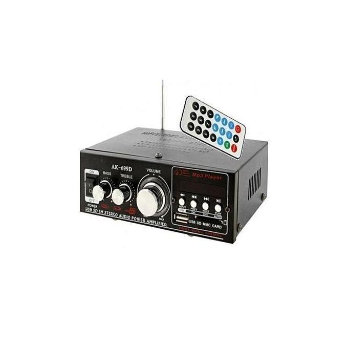 Hi Fi Amplificateur De Très Haute Puissance Audiousb Sd Mmc Fm Stéréolecteur Numérique Avec Entrée Micro Noir