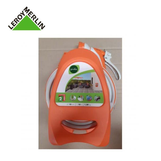 Dévidoir Portable Orange équipé Dun Tuyau Darrosage L10 M Garantie 2 Ans