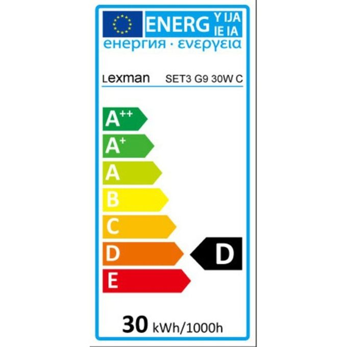 3 Ampoules Halogènes Culot G9 40w 410lm équiv 40w 2700k