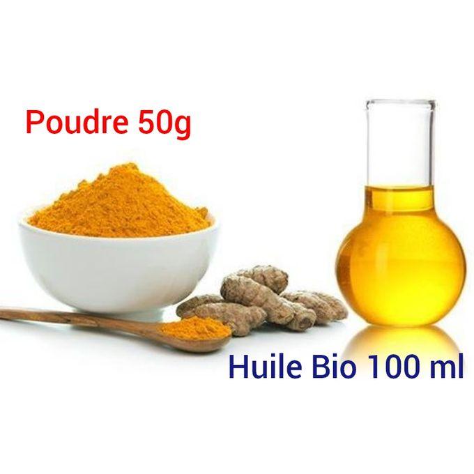 Pack Curcuma Huile 100 Ml Poudre 50 G