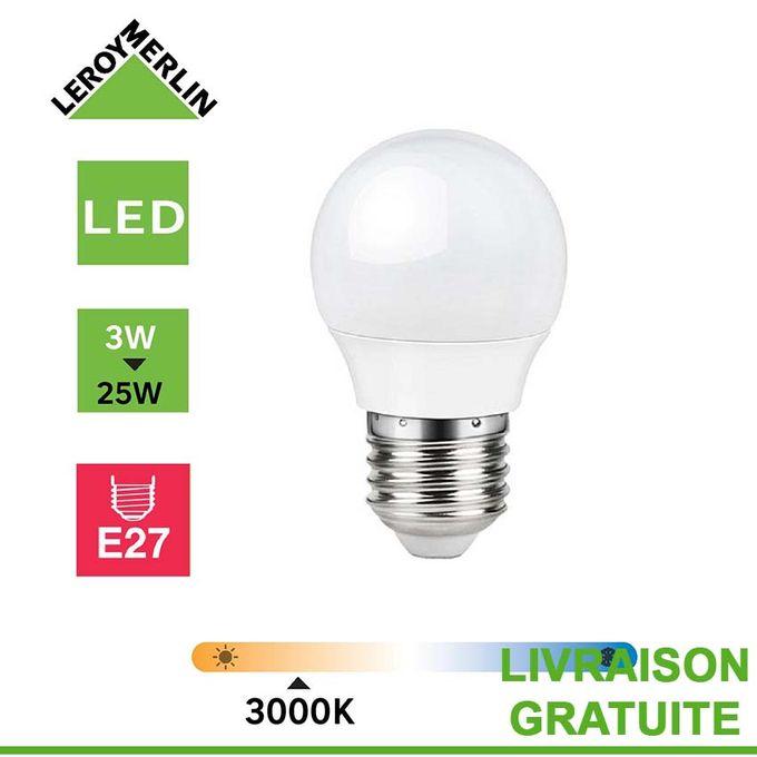 Ampoule Led E27 à Vis 3w équiv 25w 3000k Led