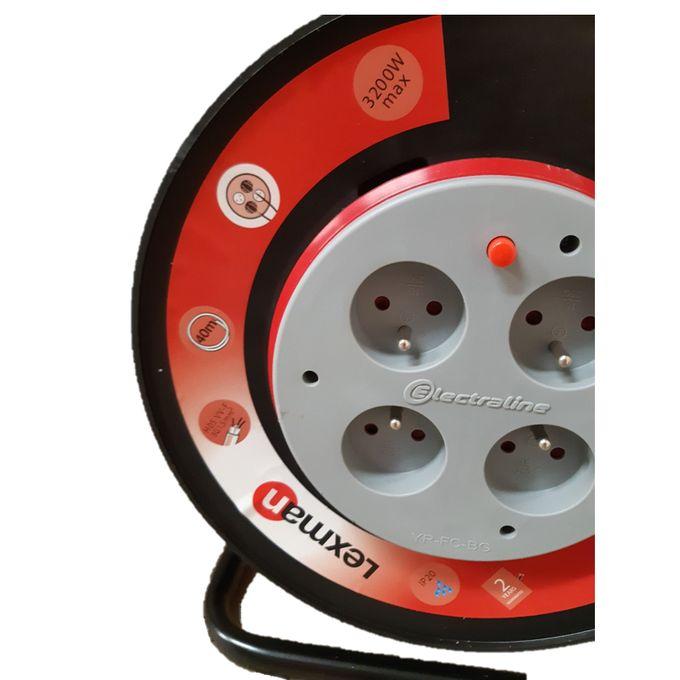 Enrouleur De Câble électrique Bricolage Long 25 M Rallonge Garantie 3 Ans