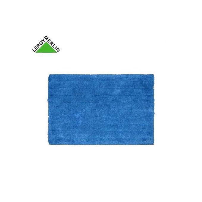 Tapis De Bain Bleu 60x40 Cm Milano 100 Coton Garantie 1 An