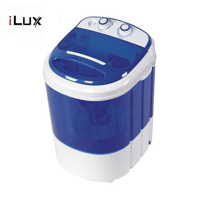 product_image_name-Ilux-Machine à Laver Semi-Auto 3 Kg - Bleu/Blanc -Garantie 6 Mois-1