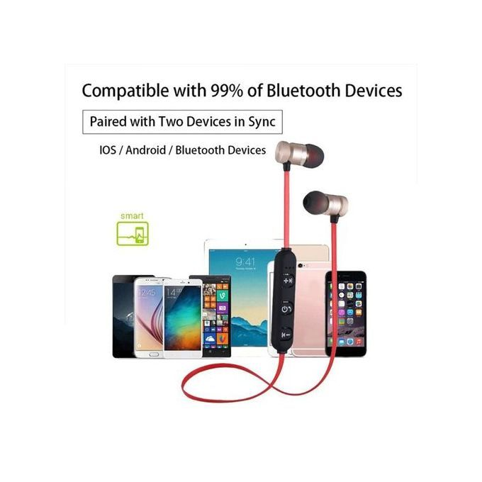 Smart Wireless Bluetooth 40 Sports Stereo Earphonenoise Reduction With Mic Noir