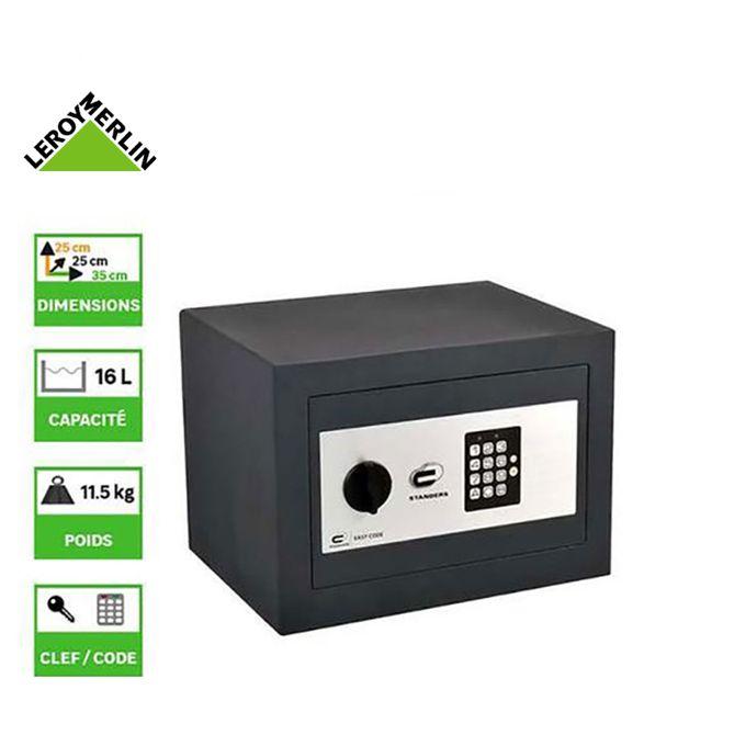 Coffre Fort à Code Easy Code H25 X L35 X P25 Cm Garantie 1 An