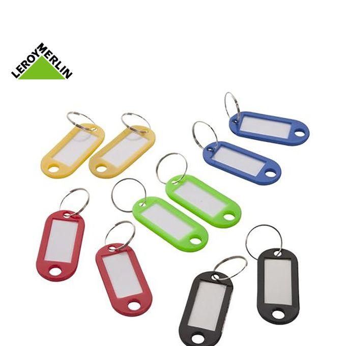 Lot De 10 Porte étiquettes Plastique Avec Accroches Couleurs Assorties Long 5cm