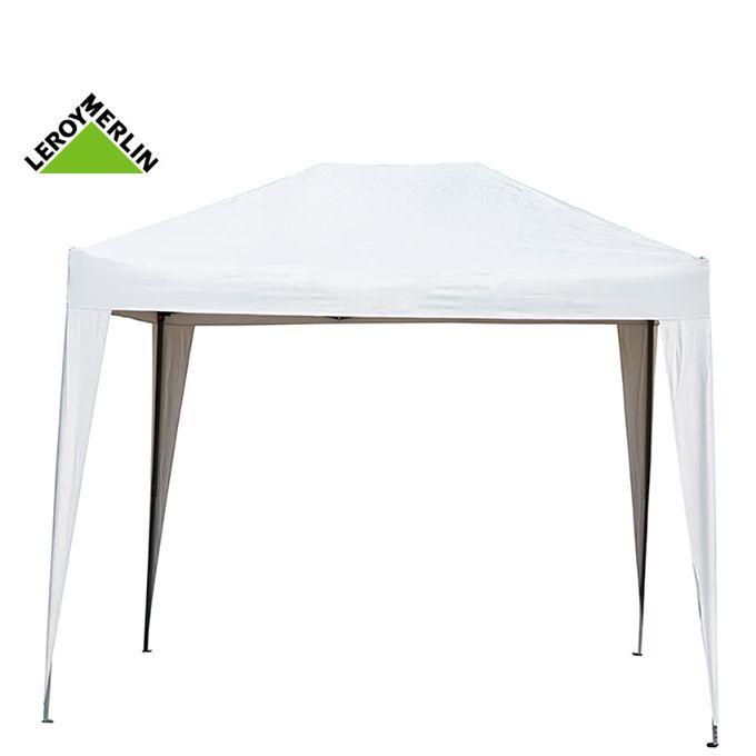 Tonnelle 2x3 En PE Blanc Armature Blanc / Gazebo - Garantie 1 An