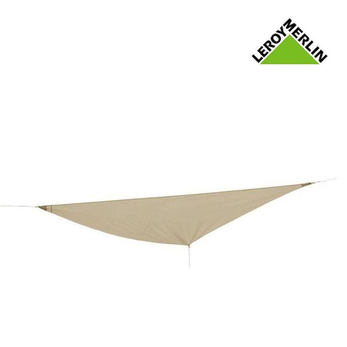 Toile Voile Dombrage Triangulaire Taupe L360 X L360 Cm Garantie 1 An