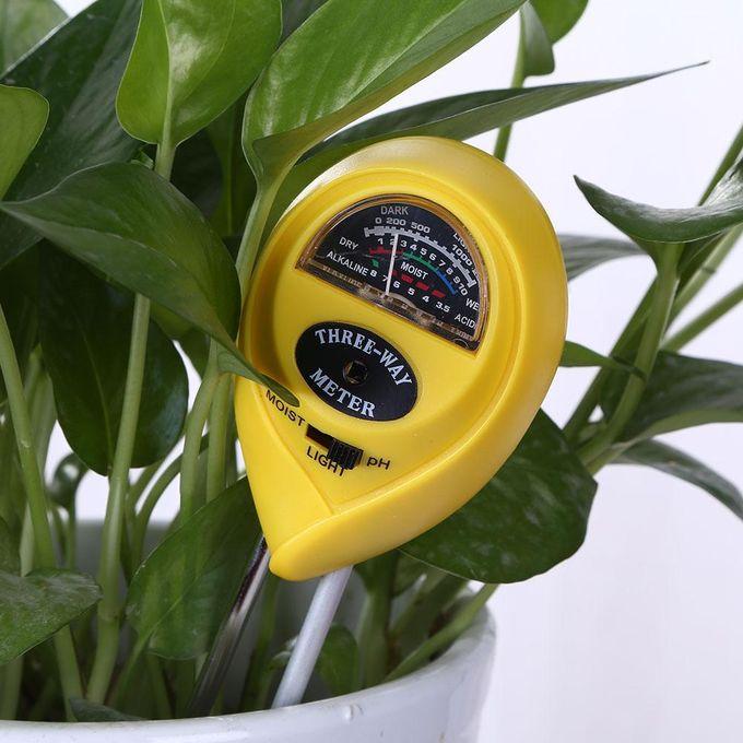 Ph Mètre De Sol 3 En 1 Analyseur De Plantes De Plantes Testeur De Sol D Hygromètre Noir