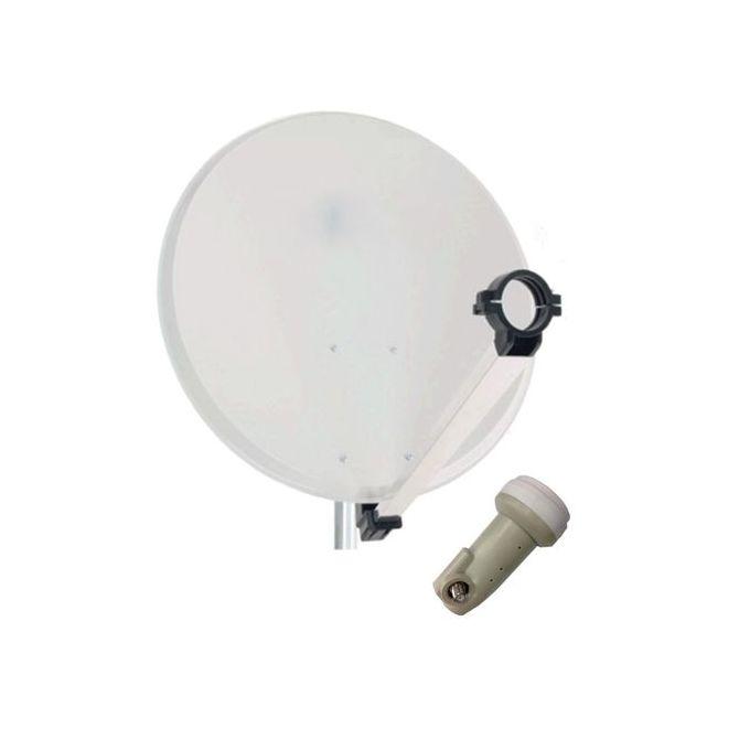 Antenne Parabolique Aluminium 65 Cm Tête Lnb Cable Offerte