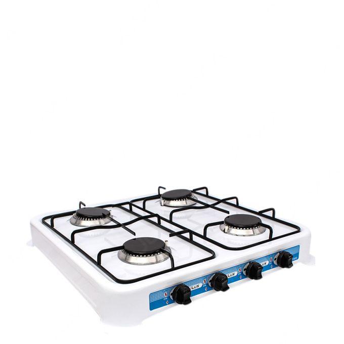 Cuisinière à Gaz Réchaud 4 Feux Blanc