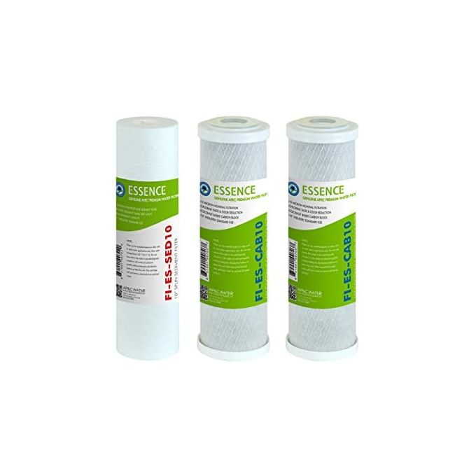 """Eau potable Filtre Set 10/"""" Combi Filtre Sédiment Charbon Actif osmose inverse Installation"""