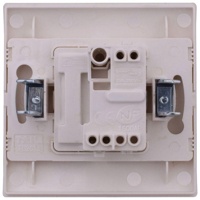 Interrupteur à Encastrer Va Et Vient Blanc 73x73mm Mirage