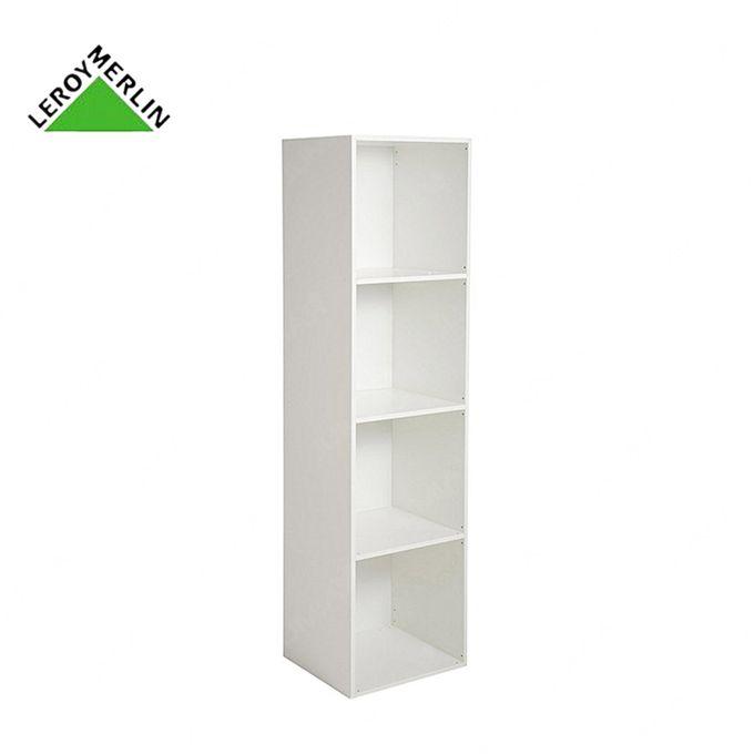 Etagère 4 Cases Multikaz Blanc H1372 X L352 X P317 Cm