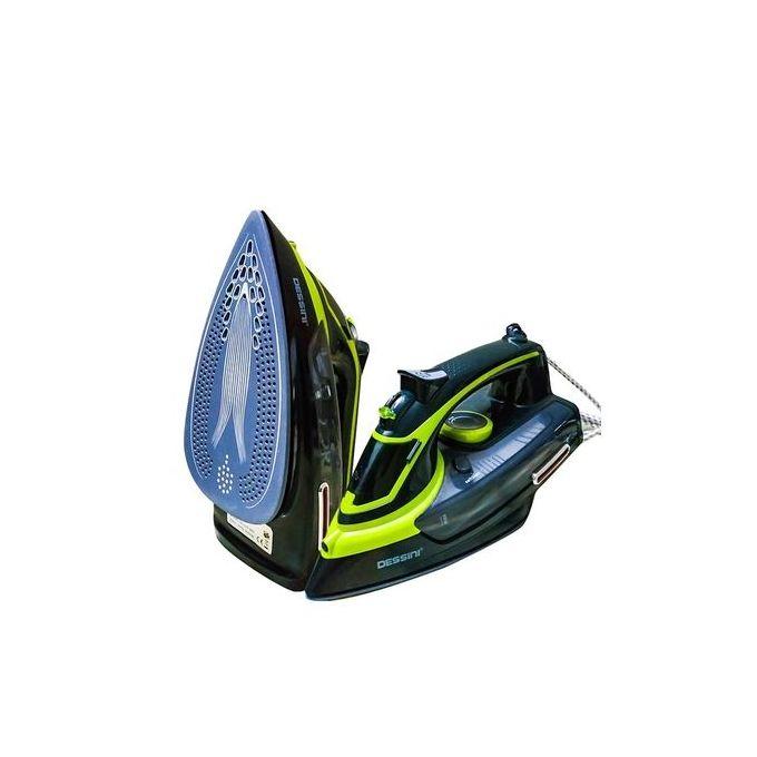 product_image_name-Dessini-DS - 889 Fer à repasser à vapeur Vapeur Avec Semelle Céramique, 3000 W Environ - Vert/Noir-1