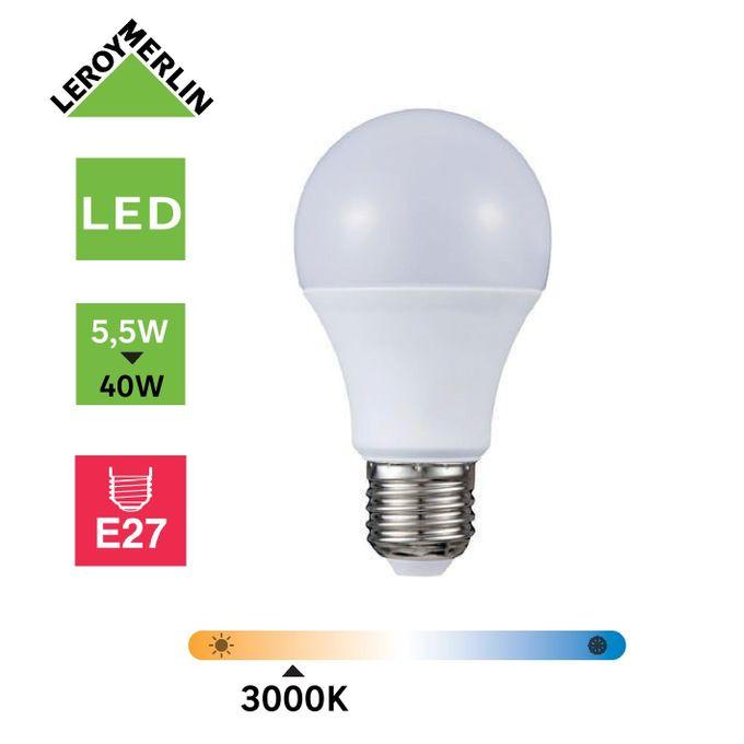 Ampoule Led Culot E27 à Vis 55w équiv 40w 3000k Led