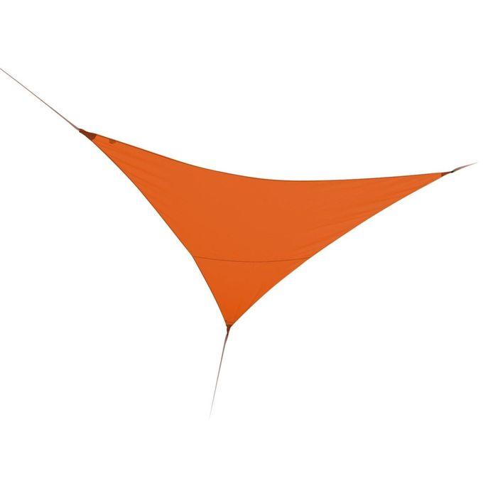 Toile Voile Dombrage Triangulaire Orange L360 X L360 Cm Garantie 1 An