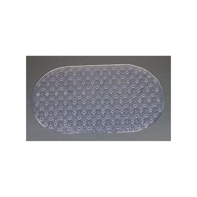 Tapis Antidérapant à Ventouse Transparent Pour Douche Et Baignoire 69x39cm Garantie 1 An