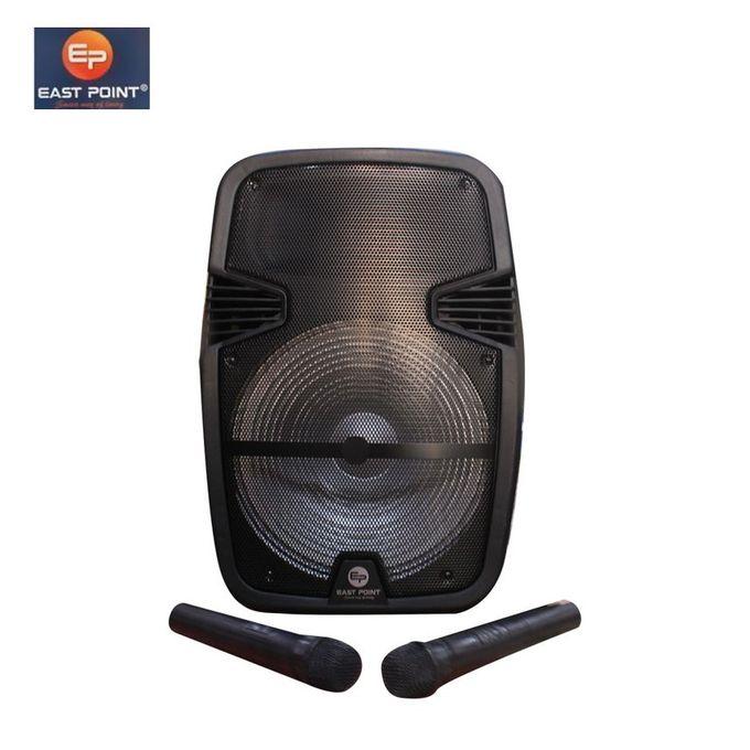 product_image_name-East Point-Baffle Amplificateur Haut-parleur + 2 Microphones - Noir-1