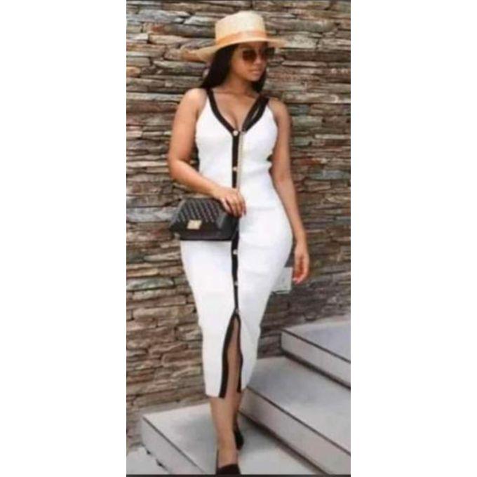 Fashion Robe Longue Moulante Blanc Prix Pas Cher Jumia Ci