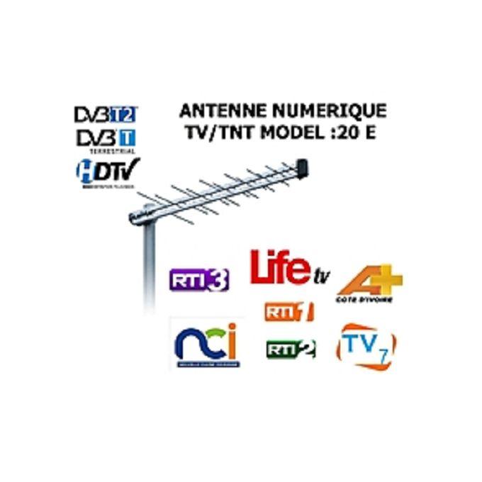 Mini Antenne Extérieure Tnt Vhf Argent