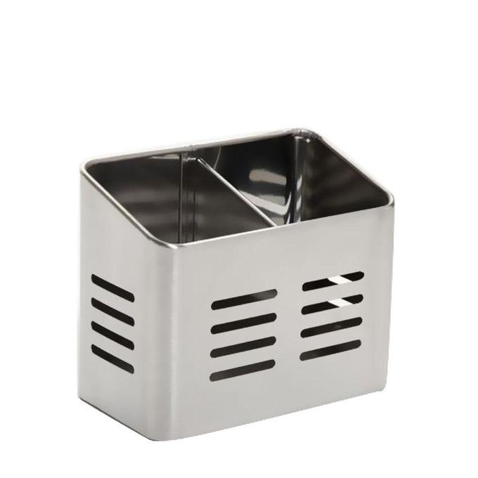 Pot Range Couverts à Compartiments Accessoires évier Inox Brossé Larg 157 Haut 13cm