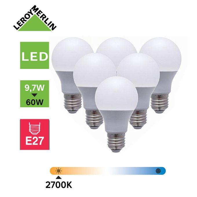 6 Ampoules Led Culot E27 à Vis 97w équiv 60w 2700k Led