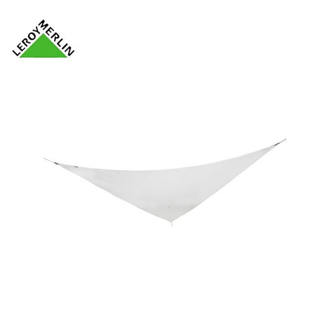 Toile Voile D\'Ombrage Triangulaire Blanc Ivoire - L.360 X L.360 Cm -  Garantie 1 An