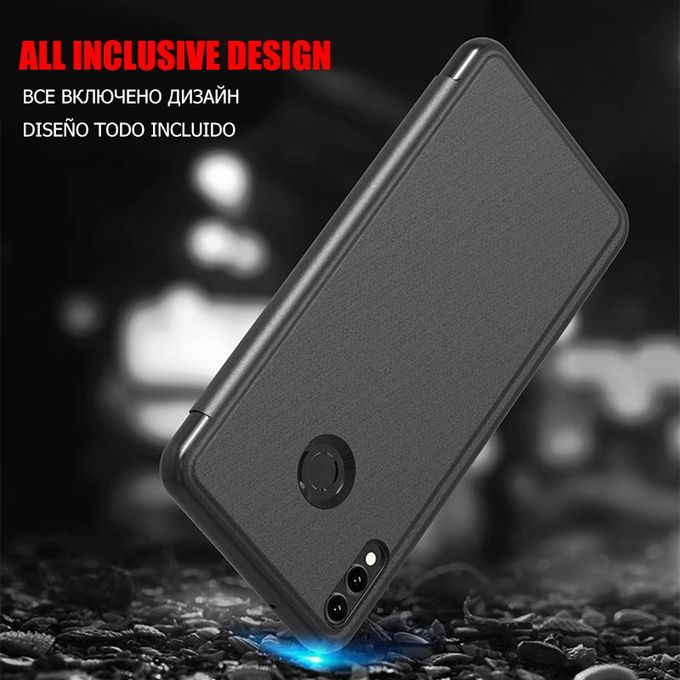 Luxury Mirror Leather Smart Flip Phone Case For Xiaomi Redmi Note 7 6 Pro 4 4x 5 Protective Cases For Redmi 7 6 6a 4x 5 Coverblack Bdz