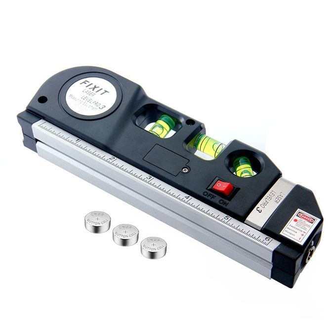 Laser Niveau Kruis Lijn Laser Tape 25 M Measurment Multipurpose Hand Toolblack25m