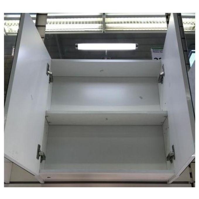 Armoire De Toilette à Suspendre Larg 60cm Modulo Blanc Garantie 2 Ans Meuble Rangement Salle De Bain 1 étagère