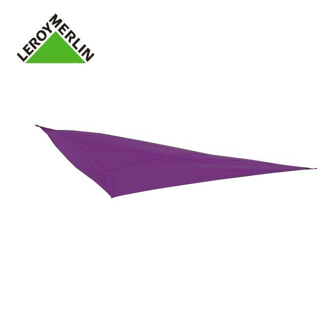 Toile Voile D\'Ombrage Triangulaire Violet - L.360 X L.360 Cm - Garantie 1 An