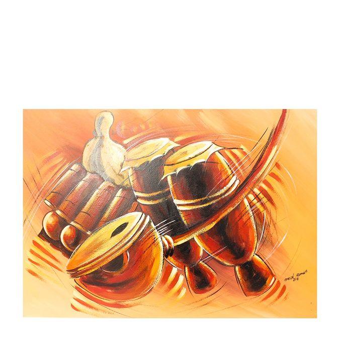 Generic Tableau De Peinture Africaine - Marron Jaune - Prix pas cher | Jumia CI
