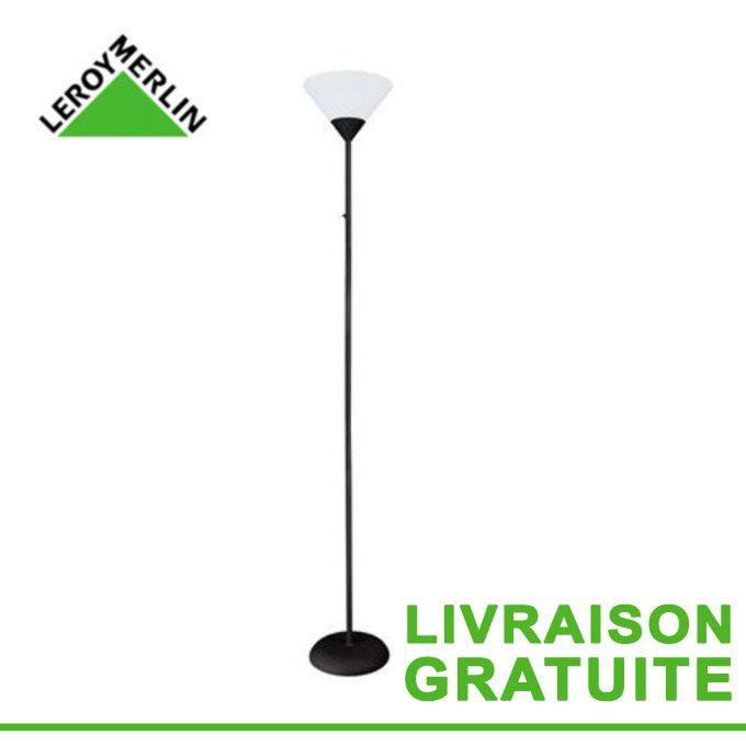 Lampadaire Basic 177 Cm 60 W Noir Fonctionne Avec 1 Ampoule E27 Garantie 1 An