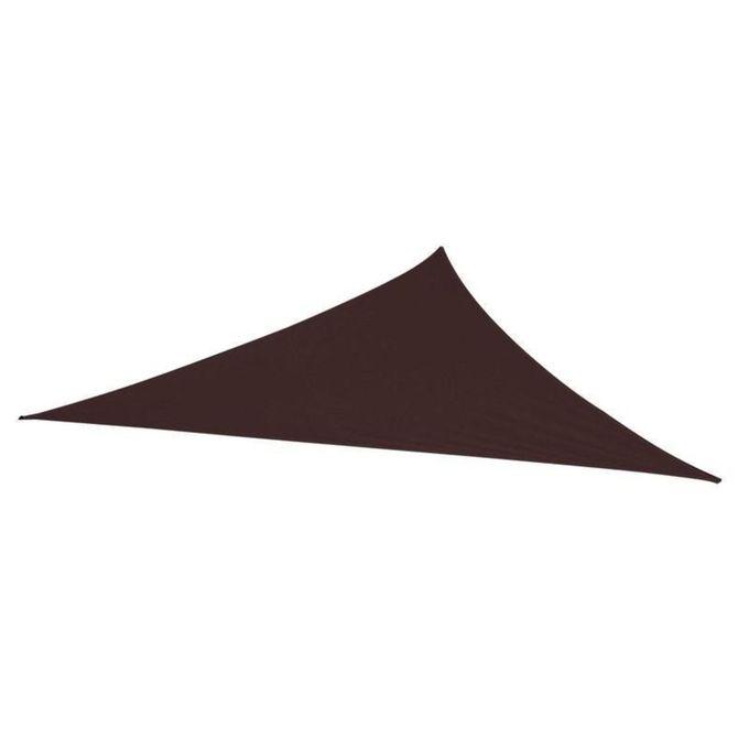 Toile Voile D\'Ombrage Triangulaire Chocolat - L.360 X L.360 Cm - Garantie 1  An