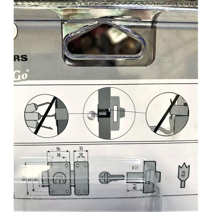 Serrure Porte Verrou Double Cylindre 40 Mm City 5g